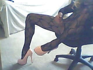 Dirty Sissy Gia Jiizz in Black Lingerie Body Stocking