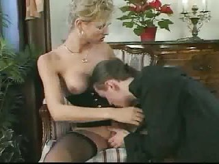 Teen guy has a fun with pretty blonde TS
