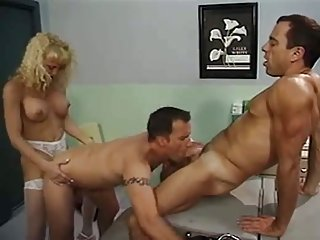 Naughty Shemale Nurse Gets Fucked In Threesome
