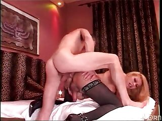 Sexy Sara seduced a solid guy