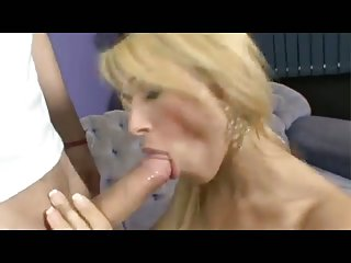 Blonde horny TS gets banged