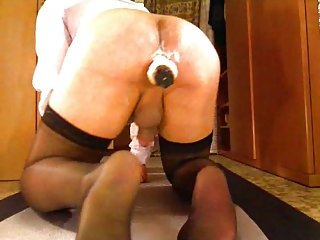 Creamy dildo in my ass