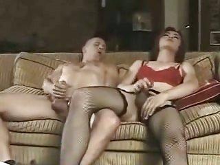 Asian crossdresser drills a chap