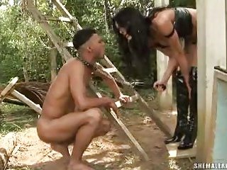 TS Viviany Aguilera and her slave