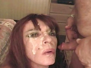 Sucking fat cock for facial