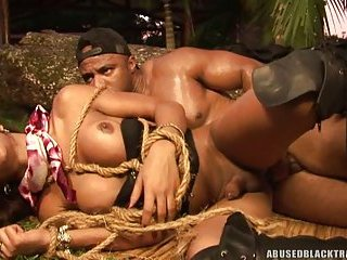 Black hunk dominates Sarah Costa
