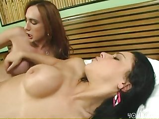 Titty tranny and chick fucking hot