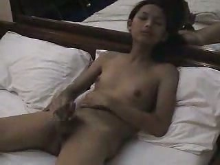 Teen small tits ladyboy