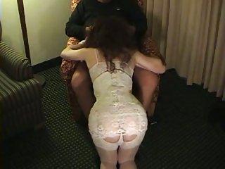 Vintage crossdresser sucking cock