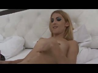 TS in lingerie cumming