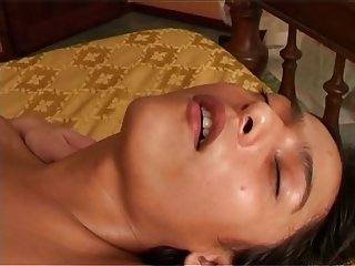 Brunette TS sucks guys dick before anal