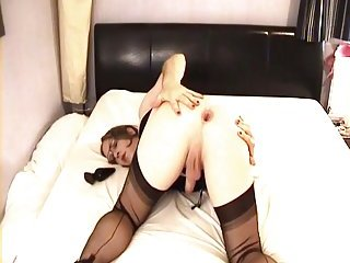 Hot CD with toy in ass