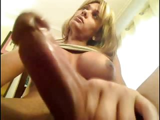 She has perfect boobs and huge cock