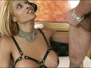 Titty shemale drilled & jizzed