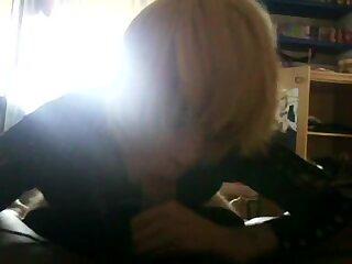 Blond Italian crossdresser blowjob