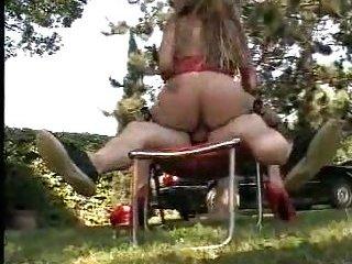 Sexy italian shemale fucks outdoor