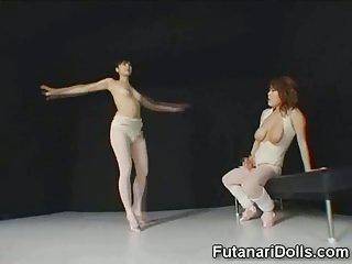 Futanari Ballerina Big Cumshot