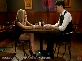 Poker game with sexy blonde