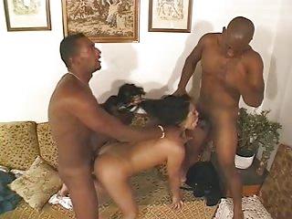 Carla Fael in interracial threesome