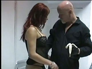 Titty redhead cutie sucking cock