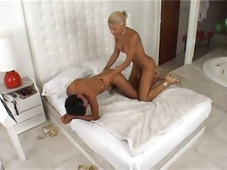 Teen blonde TS is a hot lover