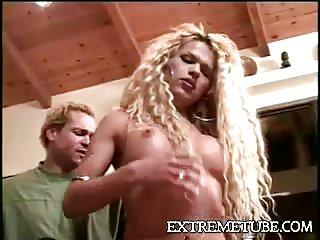 Guy spanking this sexy hottie