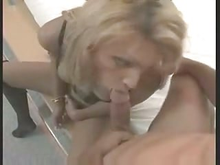 Sexy blonde in lingerie fucked