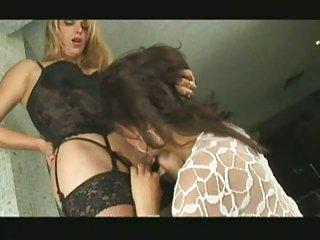 Blonde with balls fucking girl