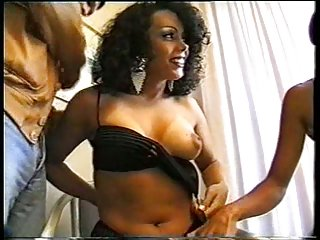 Vintage Threesome In A Hotel Room