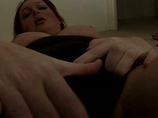 Amateur tranny in lingerie cock stroking