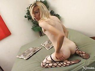 Small tits blonde tranny ass fucked