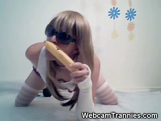 Crossdresser Teen With Toys On Cam Clips