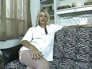 Blonde Tgirl bonking a stud