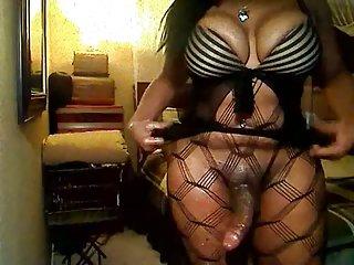 Ebony TS Sydney Masturbating On Cam