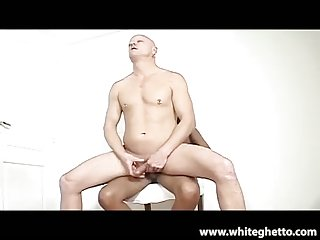 Guy ass drilled by hot tranny