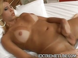 Naughty blonde hot solo