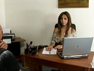 Busty Tbabe fucked at the office