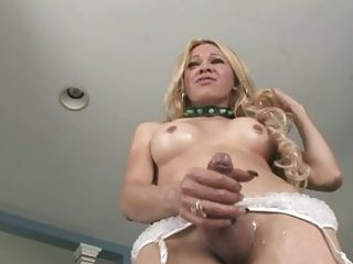 Beautiful blonde with brutal cock