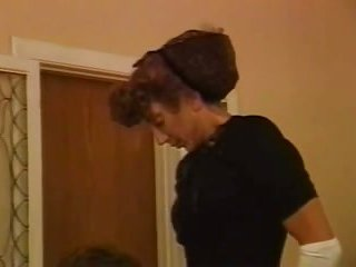 Mature Vintage Webcam girlFucks a Guy on a Sofa
