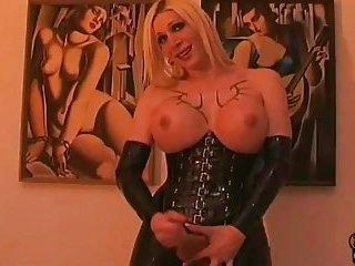 Eva Vortex - Black Rubber Wank