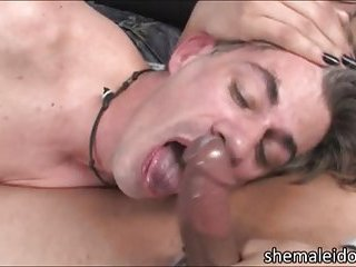 Large boobs arabic shemale hottie Mariam rips stud ass and cums