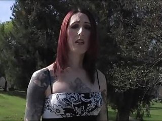 Tattooed Chaturbate modelBrittany St Jordan enjoys her porn audition by stroking her dick