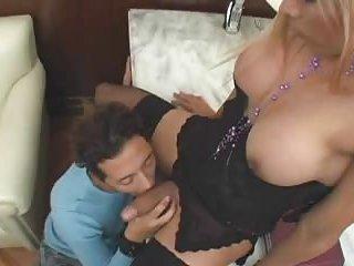Randu blonde gets blowjob & fucks guy