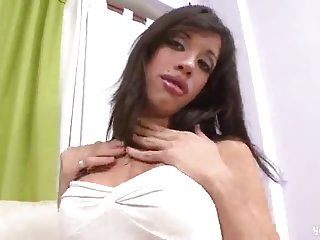 Busty tranny gets her anus penetrated