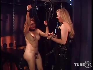 Domination motions for a busty tranny chick