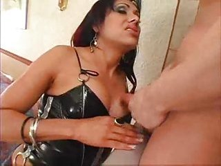 Shemale Malena fucks and gets fucked