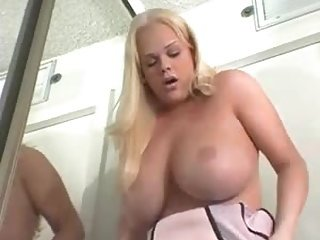 Busty blonde fucks guy very hard