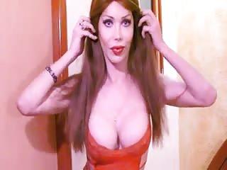 Luva's strip and cum show, Part 1