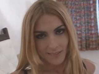 Big cocked tranny teasing her massive prick