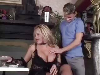 Sexy babe in black gets deep anal penetration